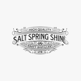Vintage typografie logo design inspiration