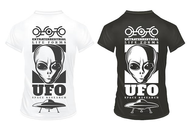 Vintage ufo druckvorlage