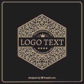Vintage und luxus-logo-vorlage