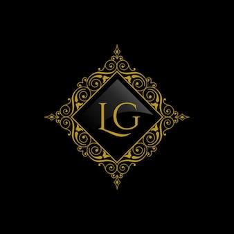 Vintage und luxus-logo