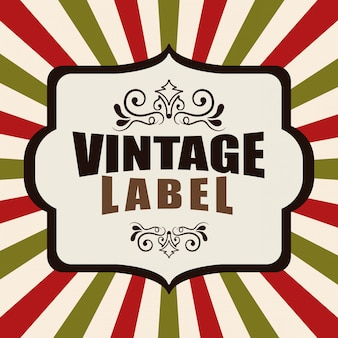Vintage und retro-label-design.