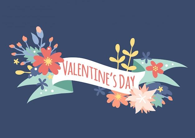 Vintage valentine day-dekorationsblumen