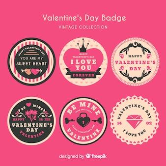 Vintage Valentine Label-Auflistung