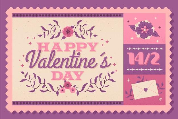 Vintage valentinstag hintergrund