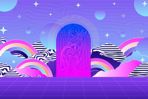 Vintage vaporwave-hintergrund
