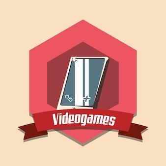 Vintage videospiele design