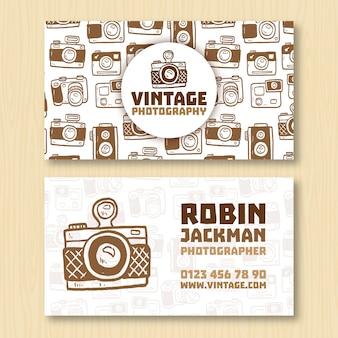 Vintage-visitenkarte für fotografen