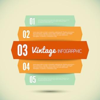 Vintage vorlage für ihre infografik