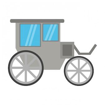 Vintage wagen symbol