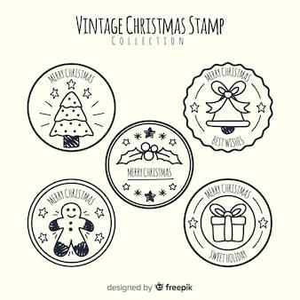 Vintage weihnachten briefmarkensammlung