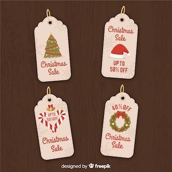 Vintage weihnachten label collectio