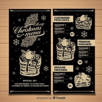 Vintage Weihnachten Menüvorlage