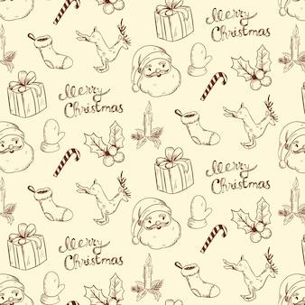 Vintage weihnachten muster