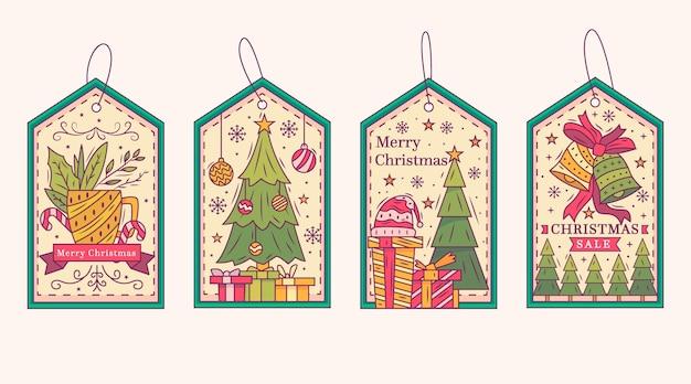 Vintage weihnachtsabzeichen sammlung