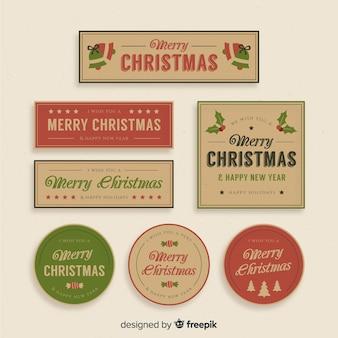 Vintage weihnachtsabzeichensammlung