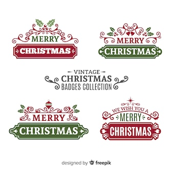 Vintage weihnachtsaufklebersammlung