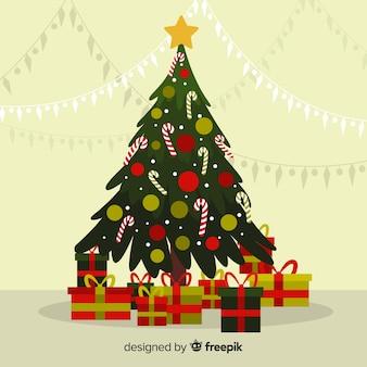 Vintage Weihnachtsbaum Hintergrund