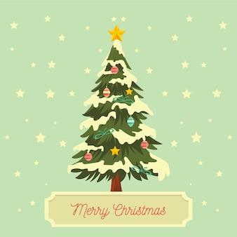 Vintage weihnachtsbaum
