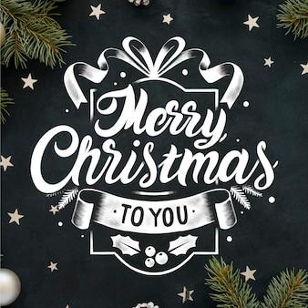 Vintage weihnachtsbeschriftung