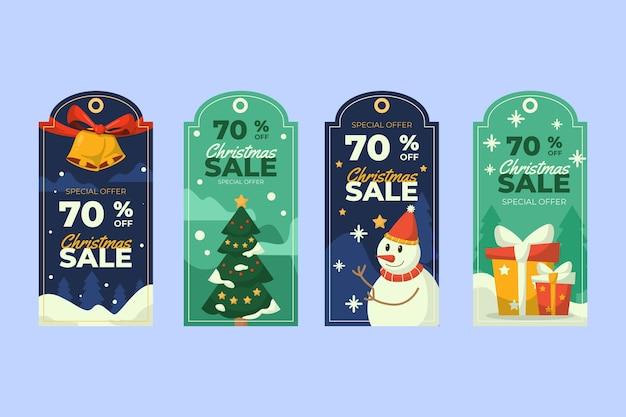 Vintage weihnachtsetikettenkollektion