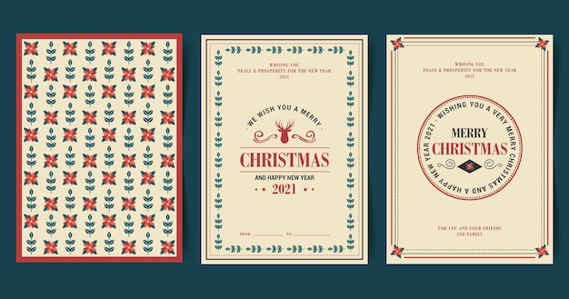 Vintage weihnachtskartensammlung
