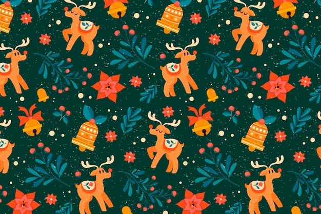 Vintage weihnachtsmuster