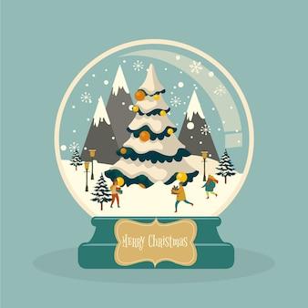 Vintage weihnachtsschneeballkugel