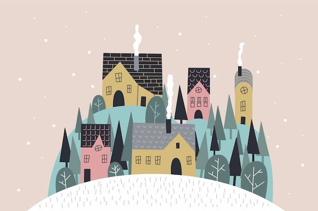 Vintage weihnachtsstadt