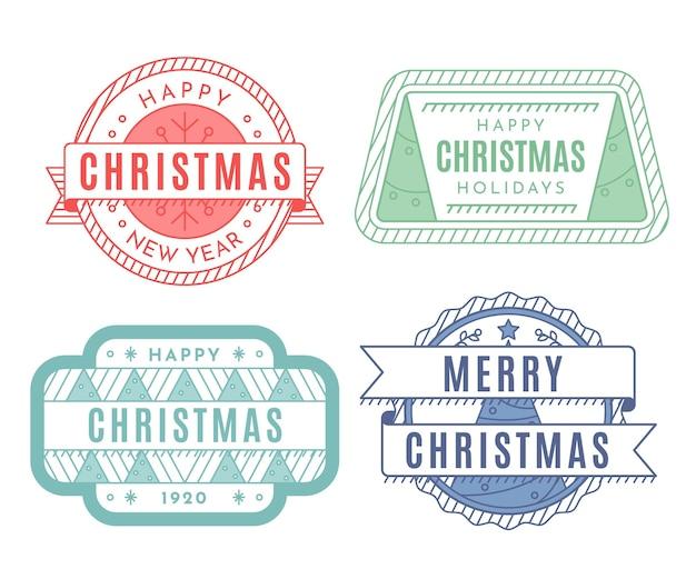 Vintage weihnachtsstempelsammlung