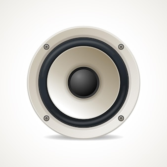 Vintage weißer audio-lautsprecher. guter klang