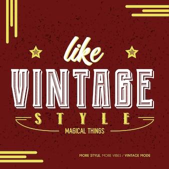 Vintage wie stil