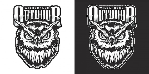 Vintage wildtier-emblem