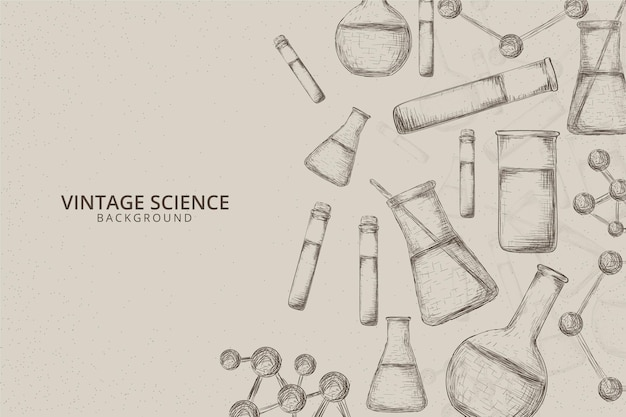 Vintage wissenschaft hintergrund