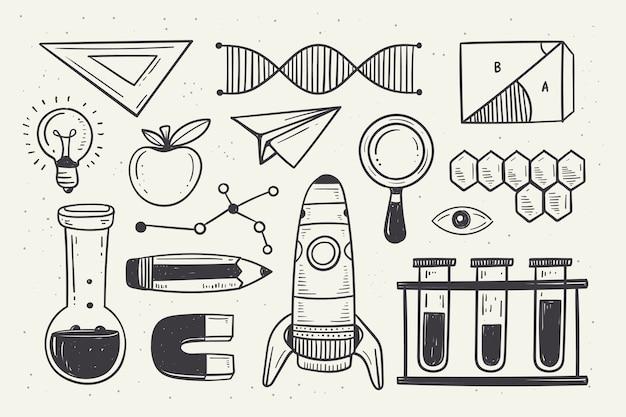 Vintage wissenschaftserziehung hintergrund