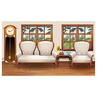 Vintage-wohnzimmerdekoration