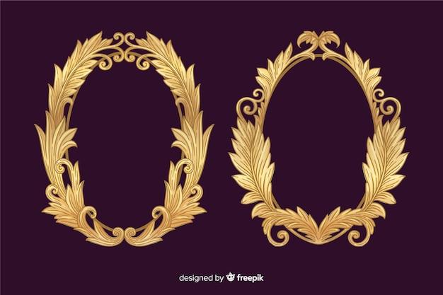Vintage zier logo sammlung