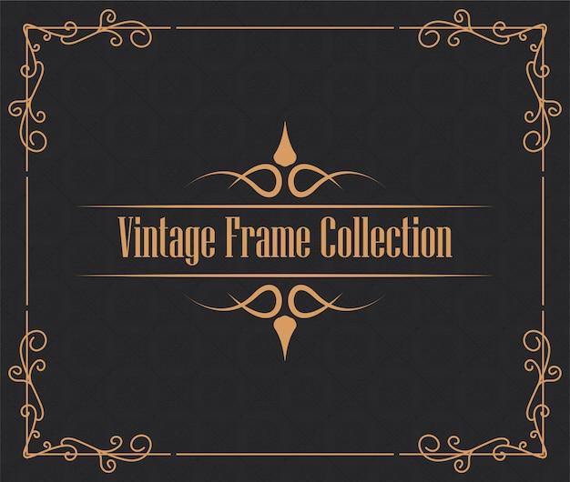 Vintage zierrahmenkollektion