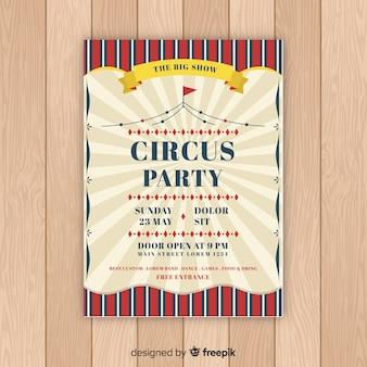 Vintage zirkus party einladungskarte vorlage