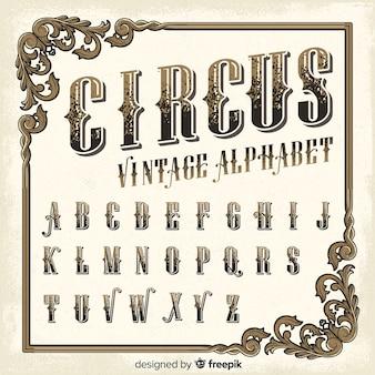Vintage zirkusalphabet