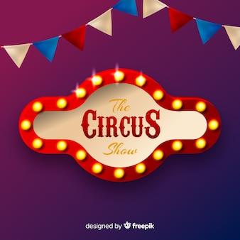 Vintage zirkuslicht zeichen hintergrund