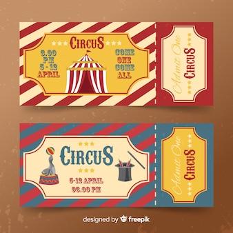 Vintage zirkusticket