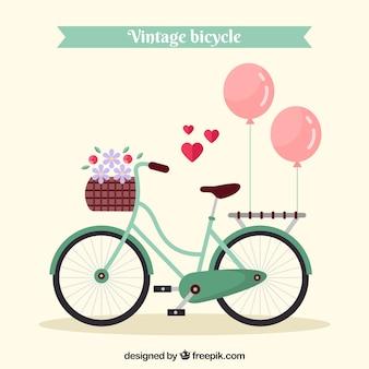Vintagebike mit schönen elementen
