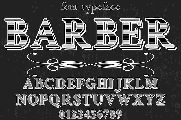 Vintager alphabet-schriftartfriseur