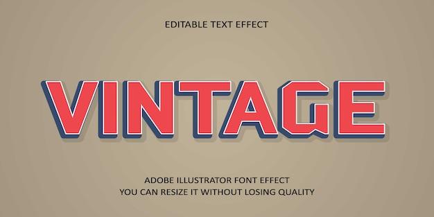 Vintager editable text guss-effekt