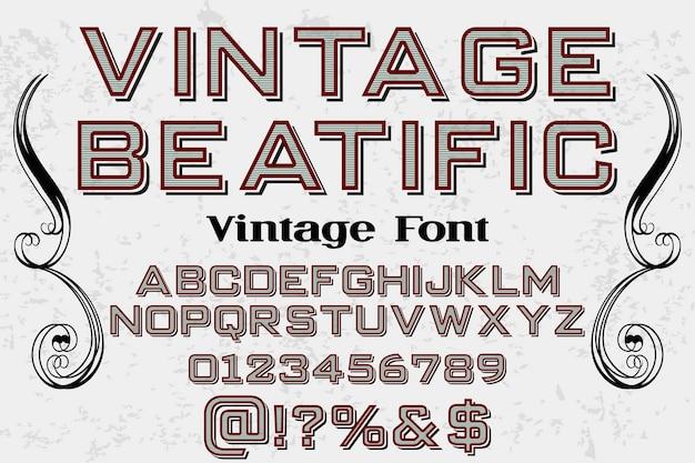 Vintager gussalphabetentwurf beatific
