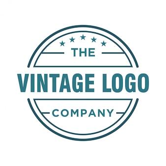 Vintager logoentwurf für lebensmittel und getränk
