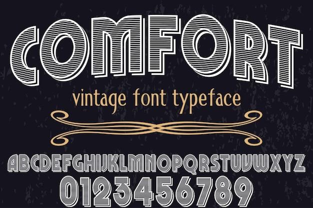 Vintager typografie-schriftart-grafikartkomfort