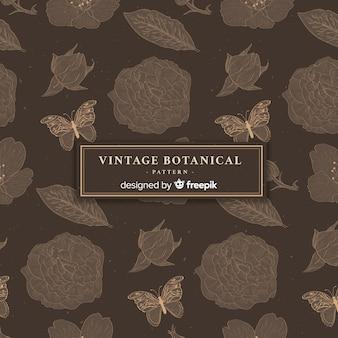 Vintages botanisches muster