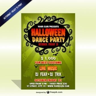 Vintages halloween-party-plakat-vorlage