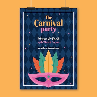Vintages karnevals-partyplakat